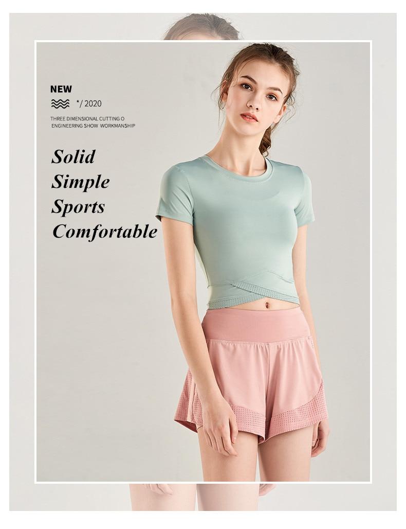 Shorts Women Workout Shorts High Waisted Running Shorts Double Layer Quick-drying Athletic Yoga Shorts Fitness Shorts (18)