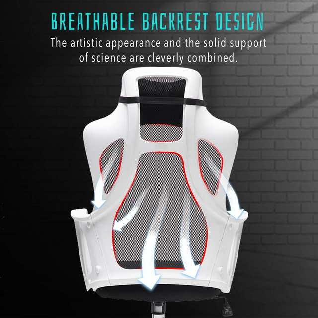 Gaming Office Chairs Ergonomic Mesh Computer Chair High Back Seat Desk Chair Home Office Recliner Gamer Chair Conference Chairs 4
