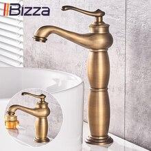 Кран для ванной комнаты, античная бронза, Твердый латунный кран для раковины, латунные краны с одной ручкой, смеситель для воды, кран для ванны, кран 1109