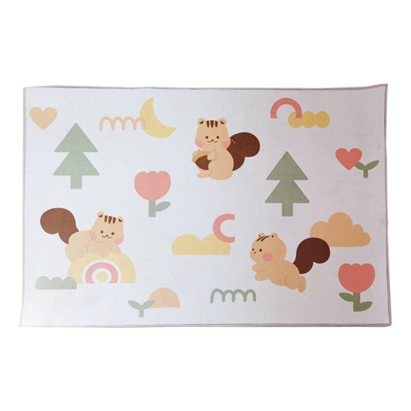 Baby Play Mat Crawling Carpet Kids Floor Rug Playmat Cartoon Squirrel Printed Game Pad Children Bedroom Nursery Decor