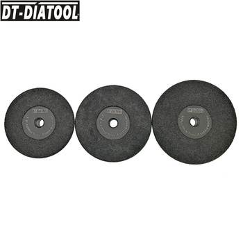 DT-DIATOOL 3pks (105+115+125mm) M14 Vacuum Brazed Diamond Flat Grinding Wheel Grinding Shaping Granite Marble Concrete Grit #30 2pcs dia105mm vacuum brazed diamond flat grinding wheel m14 30 diameter 4 shaping beveling wheel disc for granite marble