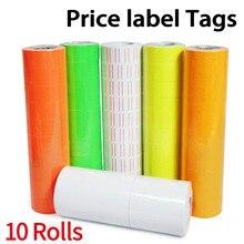 10 rolo/lote preço etiqueta para MX-5500 preço arma etiqueta etiqueta, 4000 pces branco e cor varejo loja preço arma etiqueta