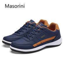 High Quality Men Shoes Sneakers Casual Flats Fashion PU Leather Mens Shoes Autumn Men's Walking Sneakers Male Footwear Size 46