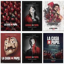 La casa de papel Poster Prints Movie TV Show Season 4 3 2 1 Money Heist Wall Art Picture Decor The House of Paper Canvas Posters