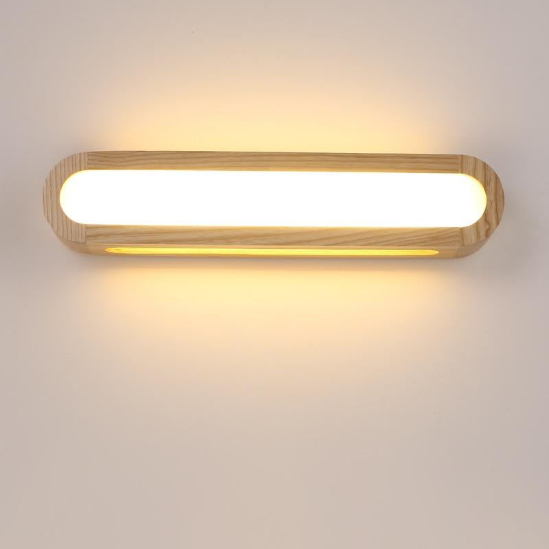 Kreative nordic schlafzimmer holz wand licht 12W AC110 240V foyer studie hintergrund lampe Bad FÜHRTE spiegel licht|bathroom mirror light|wooden wall lightsmirror light -