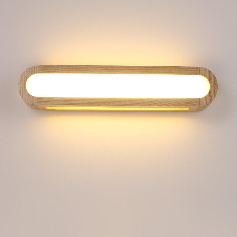 criativo nordic quarto luz de parede madeira 12 w ac110 240v foyer estudo fundo lampada do
