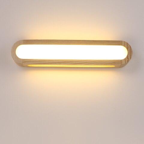 criativo nordic quarto luz de parede madeira 12 w ac110 240v foyer estudo fundo lampada