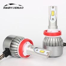 цена на 2pcs H7 LED C6 LED Car Headlight H4 H11 H8 H1 H3 9005 Far Near Light Super Bright Headlight 36W 3800LM Car Headlight Bulbs 6000K