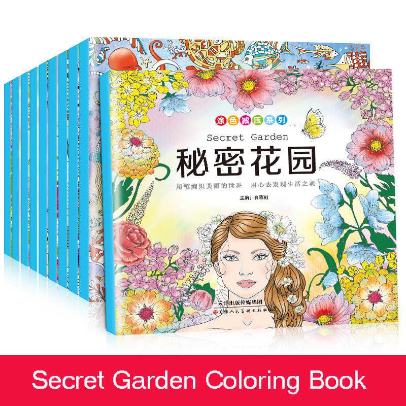 5 Libros Al Azar Edicion De Jardin Secreto Libro Para Colorear
