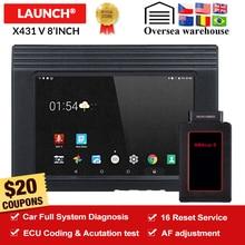 LAUNCH X431 V 8 Bluetooth/Wi-Fi Автомобильная полная система диагностический инструмент программатор ЭБУ X-431 V Pro mini OBD2 сканер с онлайн-обновлением