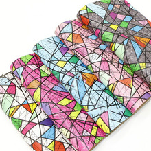 20x22cm Multicolor Plaid Printed Pvc Leather Fabric Faux Leather Upholstery Fabric DIY Sewing Shoes Purse Hair Bow Accessories 6pcs 20x22cm shinny glitter fabric diy sewing patchwork faux leather upholstery fabric hnadicarft diy bow accessories material