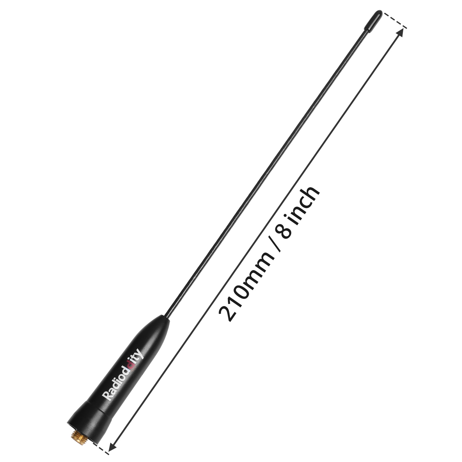 Radioddity Dual Band 21CM SMA Female Booster High Gain Antenna For Baofeng GT-3 Mark II GT-3TP UV-5R Two-way Radio Transceiver