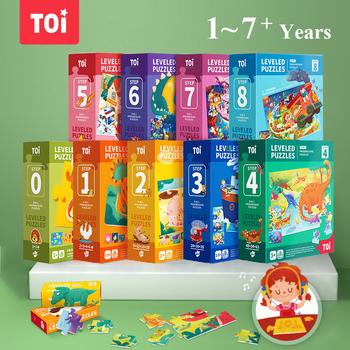 TOI zaawansowane Puzzle Puzzle Montessori Puzzle IQ Puzzle edukacyjne dla dzieci wyrównane Puzzle z dużymi kawałkami tanie i dobre opinie 25-36m 4-6y 7-12y CN (pochodzenie) Unisex Papier COMMON Krajobraz Keep away from fire TPJJ220 Toys 20*24*8cm(7 9*9 4*3 1in)