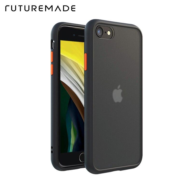 FUTUREMADE Original Anti Shock Hybrid Armor TPU Bumper Case For iPhone SE 2020 7 8 Plus Cover Fashion Silicon Luxury Phone cases
