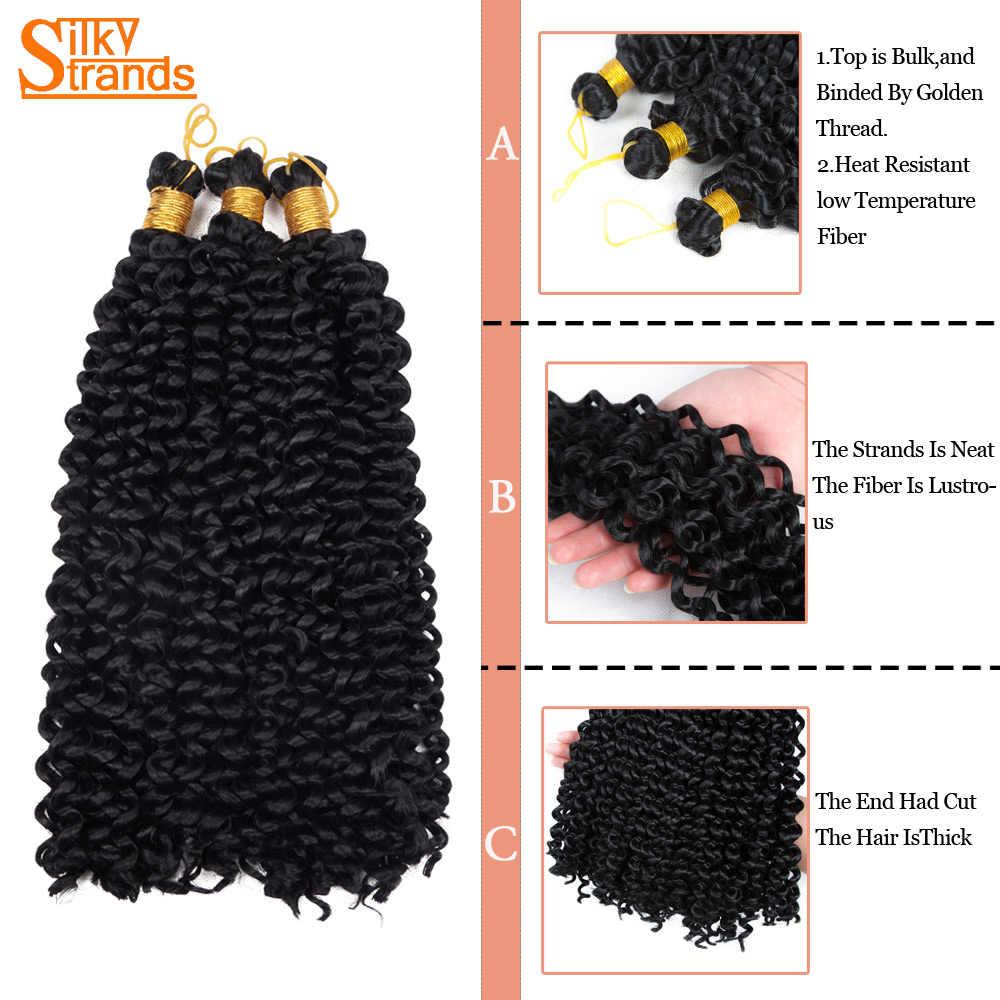 Ombre rizado extensiones de cabello de ganchillo para las mujeres negras trenzas de estirado pelo trenzado sintético Bundls ofertas de Bohemia