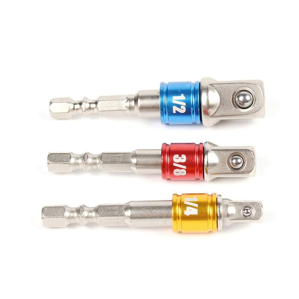 Hex Drill Power Bit Socket Drive Adapter Exension Set 1/4