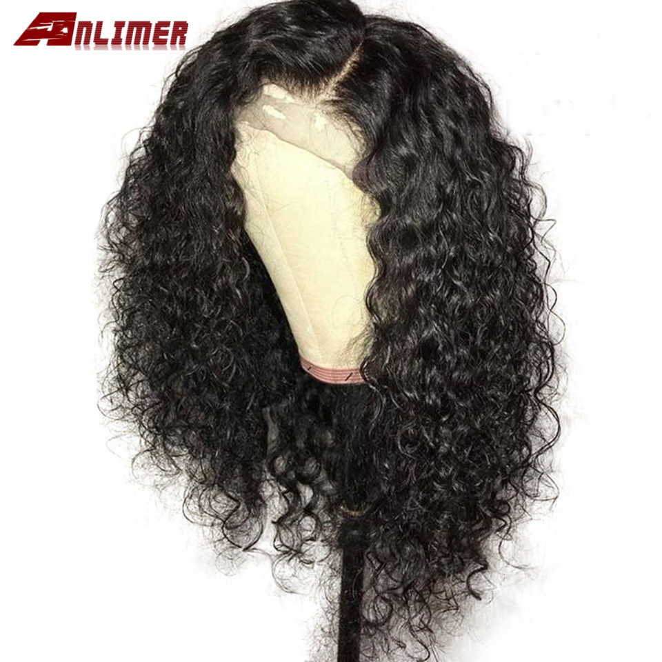 Short Deep Wave 180 Density Lace Front Human Hair Wig Pre Plucked Brazilian Curly 13x6 Lace Frontal Natural Water Wigs