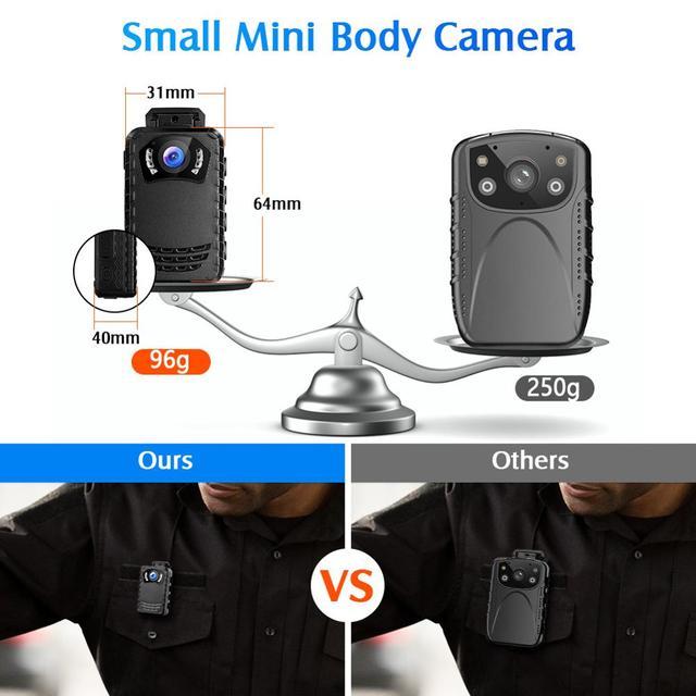 Boblov n9 mini body camera full hd 1296p body mounted camera small portable night vision police body cam 128gb/258gb mini camera