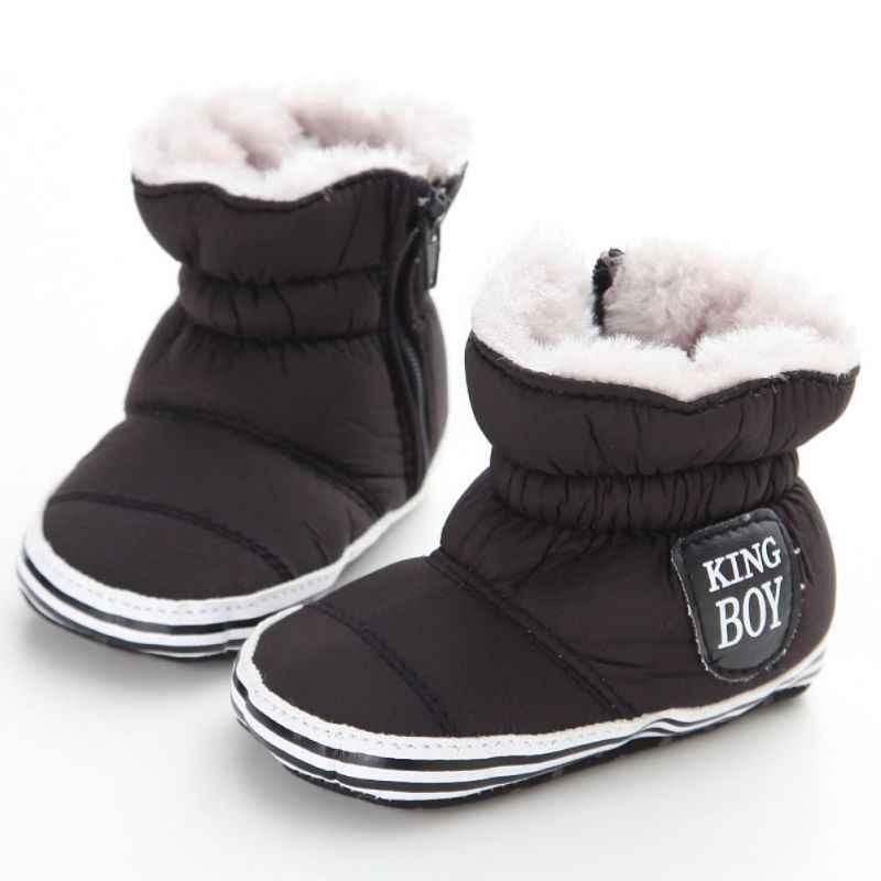 Botas de bebé Unisex, zapatos de invierno para niños, cuna bebé, niño pequeño, patrón de cinco estrellas, botas de nieve para campo de nieve, botín