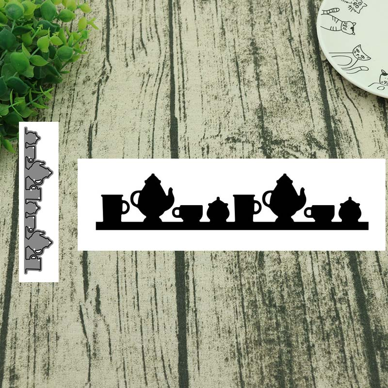 Metal Cutting Dies Various Teacups Cut Die Mold Decoration Scrapbooking Embossing Paper Craft Mould Punch Stencils