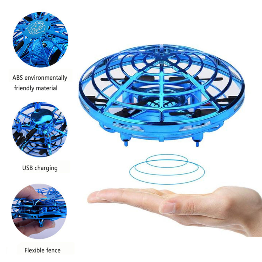 Mini Drone UFO Hand Operated RC Helicopter Drone Infrared Induction Aircraft Flying Ball Toys for Kids