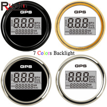 52Mm Boot Auto Digitale Gps Snelheidsmeter Kilometerteller 0-999 Knopen Km/H Mph Waterdichte Gps Speed Kilometerteller met 7 Kleuren Backlight 9-32V