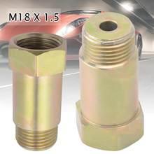 Sensor de oxígeno Bung M18x1.5 O2, extensor de extensión de tubo de prueba, espaciador adaptador de Sensor de oxígeno, accesorios universales para coche