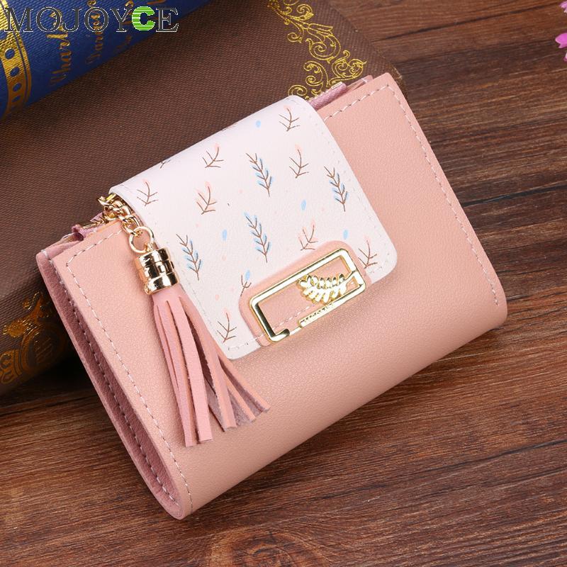 Tassel Women Wallet Small Cute Wallet Women Short Leather Women Wallets Zipper Purses Female Purse Clutch