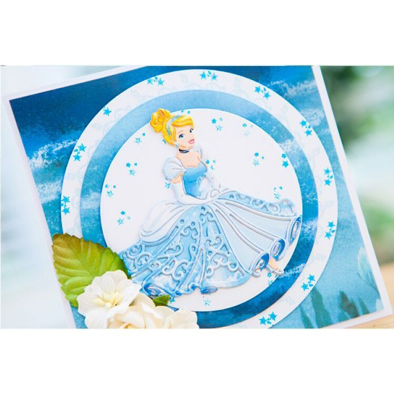 Metal Cutting Dies the sitting Princess cut die for DIY Scrapbooking Crafts Decoration new 2019 Embossing Die Cuts in Cutting Dies from Home Garden