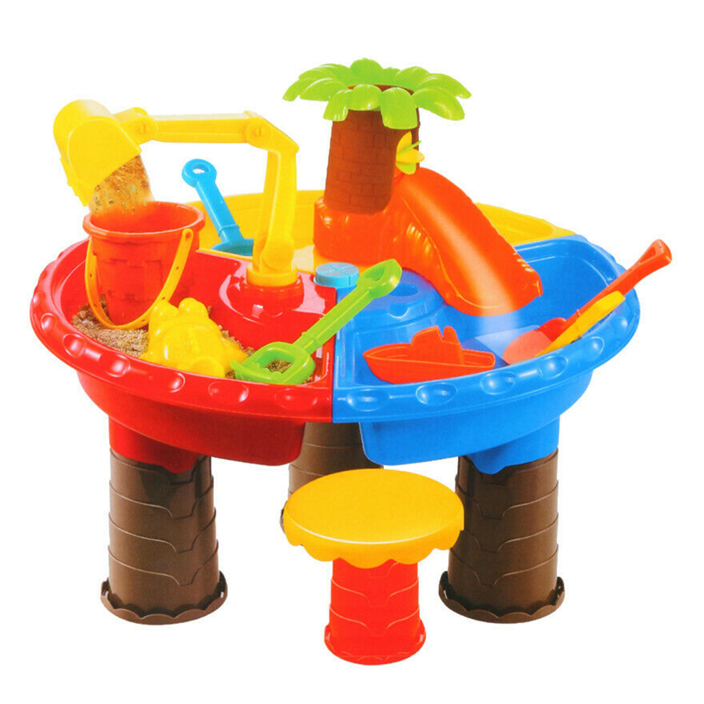 Garden Summer Outdoor Beach Toy Set For Children Water Kids Seaside Sand Table Desk Digging Pit Bucket Sandglass Play