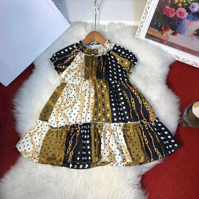 $ US $36.90 Y138 Palace girl dress 2020 summer new baby Dot princess dress children stitching Cake dress