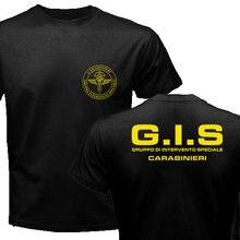 New Police female Gruppo Di Intervento Speciale Swat forze speciali italiane New Fashion O-Neck uomo Tees T shirt