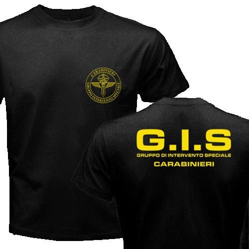 New Police female Gruppo Di Intervento Speciale Swat forze speciali italiane New Fashion O Neck uomo Tees T shirt Magliette    -