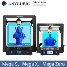 ANYCUBIC I3 ميجا ميجا S ميجا صفر ميجا X ثلاثية الأبعاد مجموعة الطابعة طباعة كبيرة حجم كبير الإطار المعدني الكامل ثلاثية الأبعاد Drucker Impresora