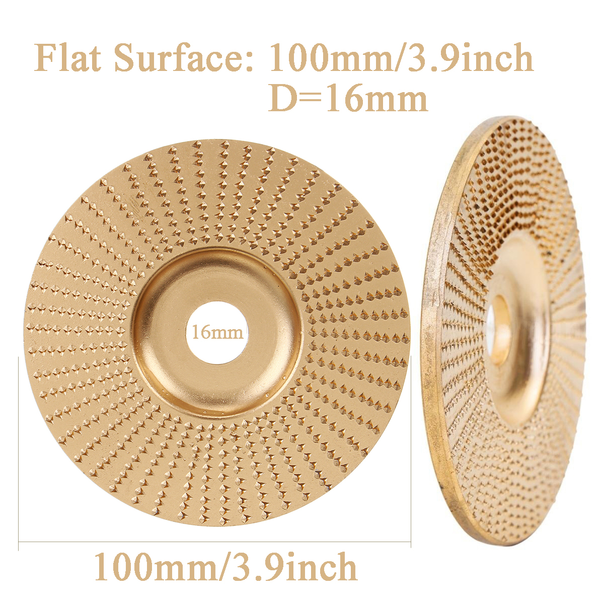 Wood Grinding Wheel Rotary Disc Sanding Wood Carving Tool Abrasive Disc Tools For Angle Grinder Tungsten Carbide