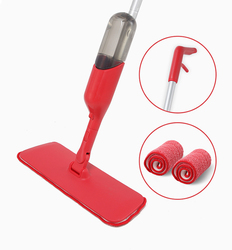 cleanhome Spray Mop with 360 Degree Handle Mop Reusable Microfiber Pads for Home Kitchen Wooden Floor Ceramic Tiles Floor