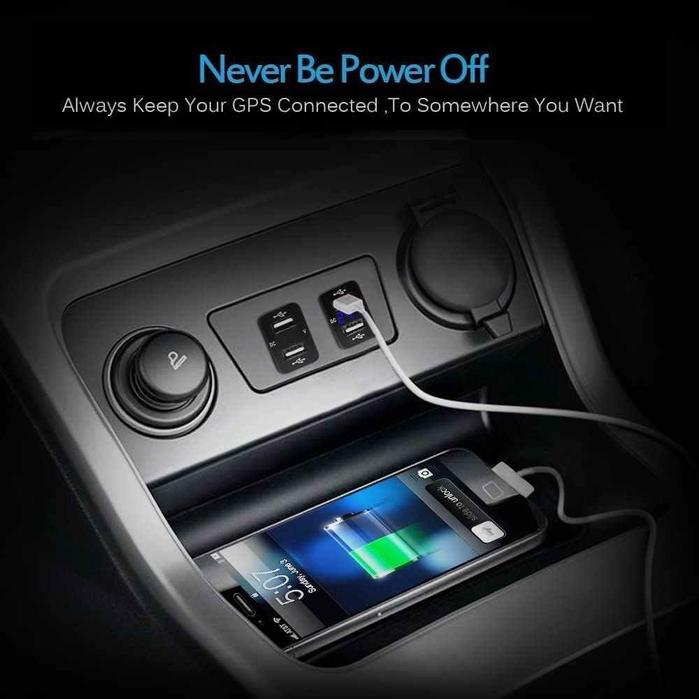 2,1 EINE Dual Auto USB Ladegerät Buchse Für Toyota 12-24V USB Auto Power Adapter Ladegerät Für Mobile telefon Auto Ladegerät mit Power Linie D5