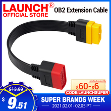 Launch Cable de extensión OBD para X431 V/V +/PRO 3/Easydiag 3,0/Mdiag/Golo Main OBD2, conector extendido de 16 pines macho a hembra