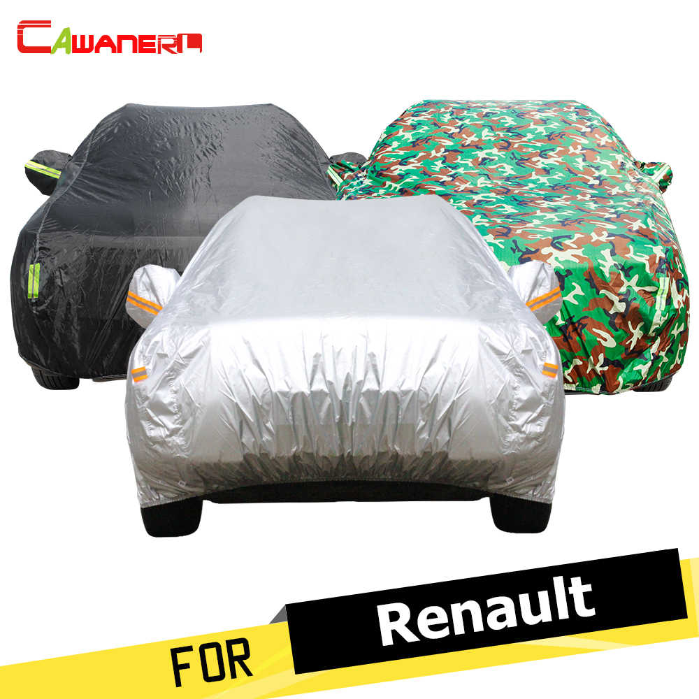 Cawanerl Outdoor Car Cover Sun Rain Snow Protector Anti UV Dust Proof Car Covers For Renault Koleos Megane Talisman Latitude