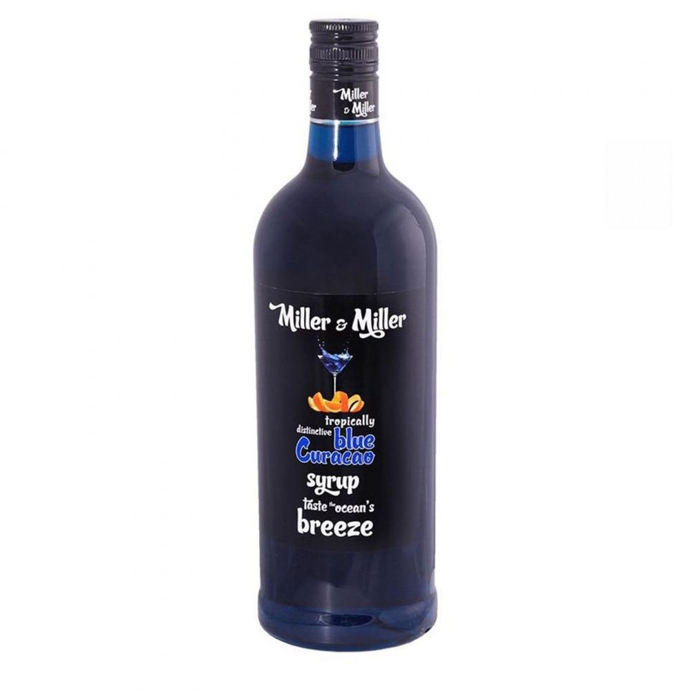"""Сироп для кофе и коктейлей Miller&Miller """"Блю Кюрасао"""", 1 л"""