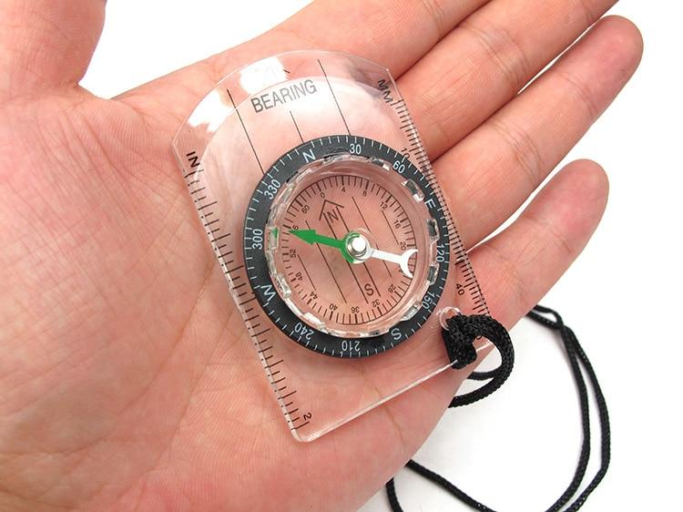 Transparent Plastic Compass Proportional Footprint Travel Outdoor Camping Hiking Military Compass Tools Bussola Compasso Kompas
