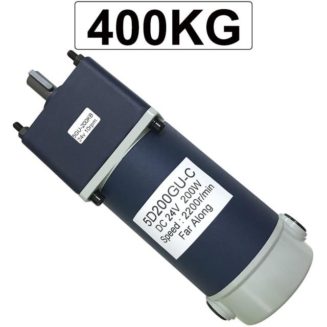 Motorreductor de corriente continua Micro eléctrico potente, 200W, 12V, 24V, alto Torque, baja velocidad, de 10 a 600RPM, motores de CC, velocidad ajustable inversa