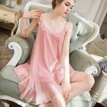 Roseheart 여성 패션 여성 핑크 화이트 섹시한 잠옷 나이트 드레스 Nightwear 나이트 가운 Homewear 럭셔리 가운 모달