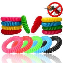 10pcs Anti Mosquito Repellent Bracelets Multicolor Pest Control Insect Protection Camping Outdoor Adults Kids
