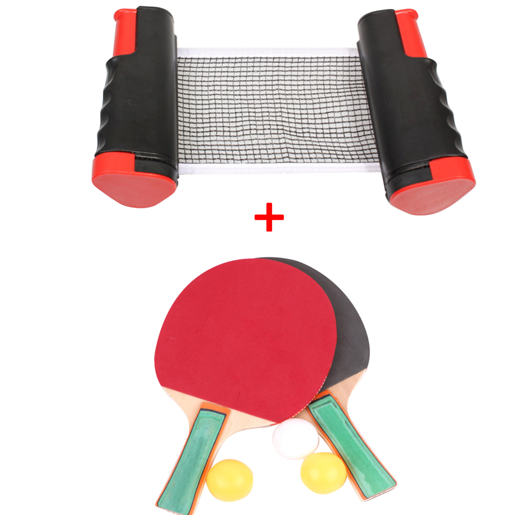 New Table Tennis Net Portable Retractable Ping Pong Post Net Rack For Any Table Table Tennis Rack Replace Kit Ping Pong Set