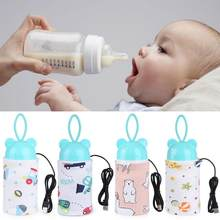 USB Milk Water Warmer Travel Stroller Insulated Bag Baby Nursing Bottle Heater Newborn Infant Portable Bottle Feeding Warmers(China)