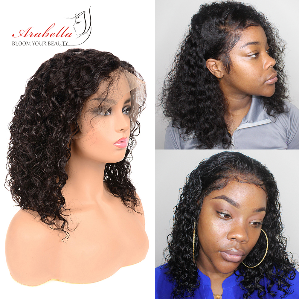 Water Wave 13x6 Lace Front Wig 180% Density Pre Plucked Wig For Black Women Brazilian Remy Hair Lace Wig With Baby Hair Arabella