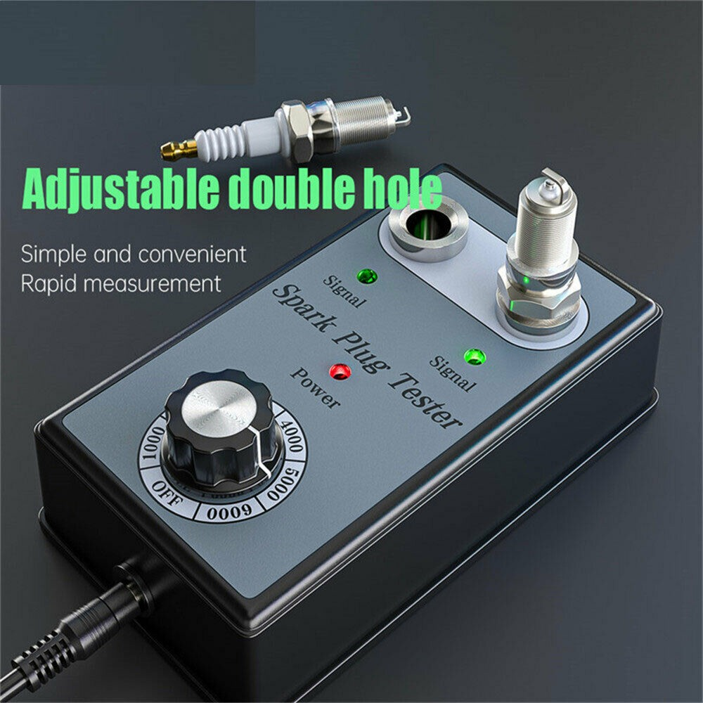 Dual Hole Car Spark US/RU Plug Tester Ignition Plug Analyzer Diagnostic Tool Car Spark Plug Tester Detector two spark plugs image