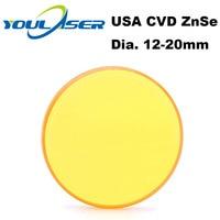 USA ZnSe Co2 Laser Objektiv 12 15 18 19 05 20mm Dia. FL 50 8 63 5 101 6mm Fokus Länge Für Laser Gravur Schneiden Maschine