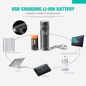 Image 5 - NICRON Mini LED Zaklamp B10 Waterdichte IP4X USB Oplaadbare Li Ion Batterij Sleutelhanger Zaklamp Voor Buitenverlichting